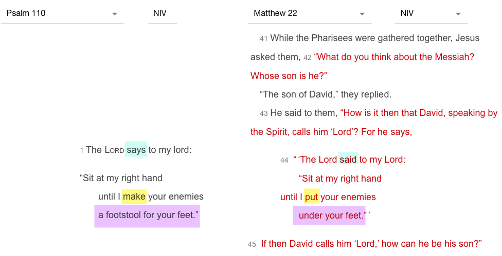 Matthew – Old Testament