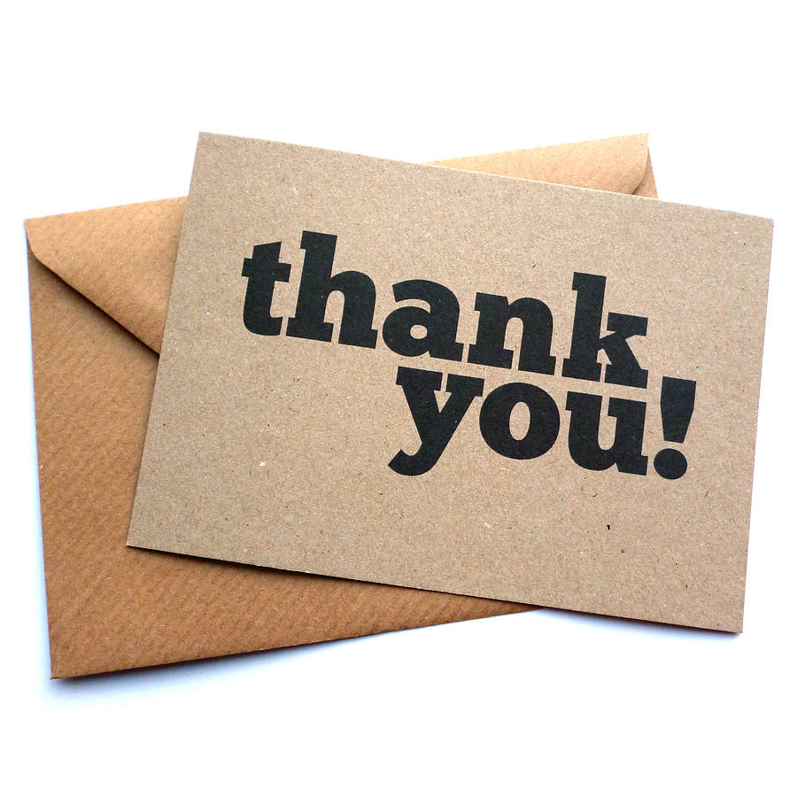 Scoffer Thank You Card