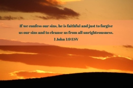 1 John 1_9 ESV Confess Sins Faithful Just Forgive