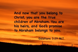 Galatians 3_29 IMG_3294 You Are Children of Abraham Heirs Promise