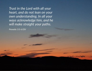 Proverbs 3_5-6 ESV Trust Lord Heart