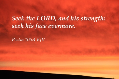 Psalms 105_4 KJV IMG_3720 Seek Lord Strength Face