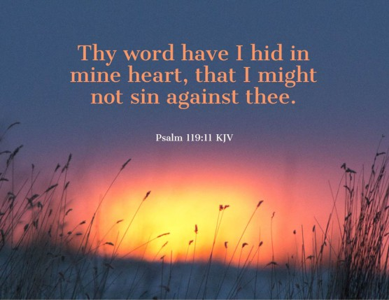 Psalms 119_11 KJV Word Hid Heart