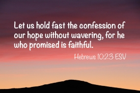 Hebrews 10-23 IMG_3776 Hold Fast Confession Faithful