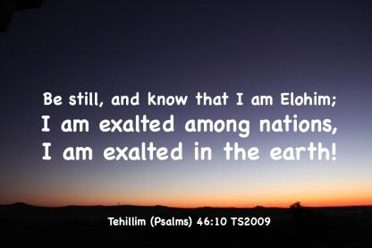 Psalms 46-10 IMG_3485 Be Still Know I Am Elohim Exalted
