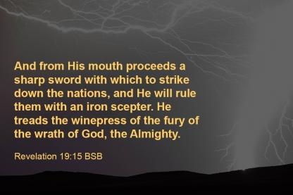Revelation 19-15 IMG_2587 Mouth Sword Strike Rule Iron Scepter