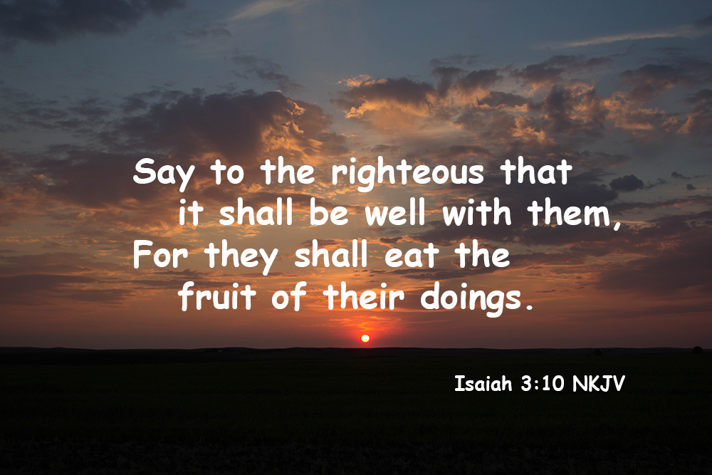 """Say to the Righteous That it Shall Be Well With Them"""" – Lift"""