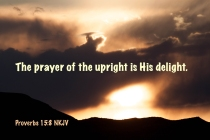Proverbs 15-8 IMG_4770 The Prayer Upright Is His Delight