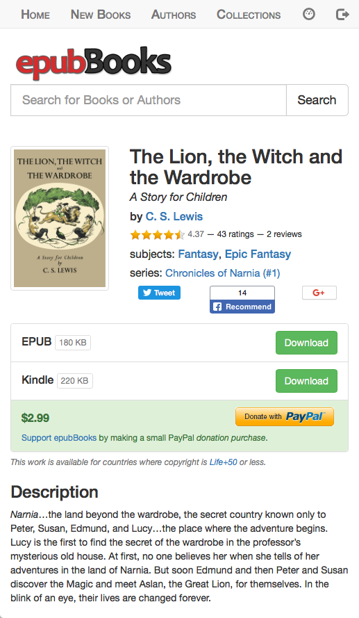 Free eBooks: Chronicles of Narnia