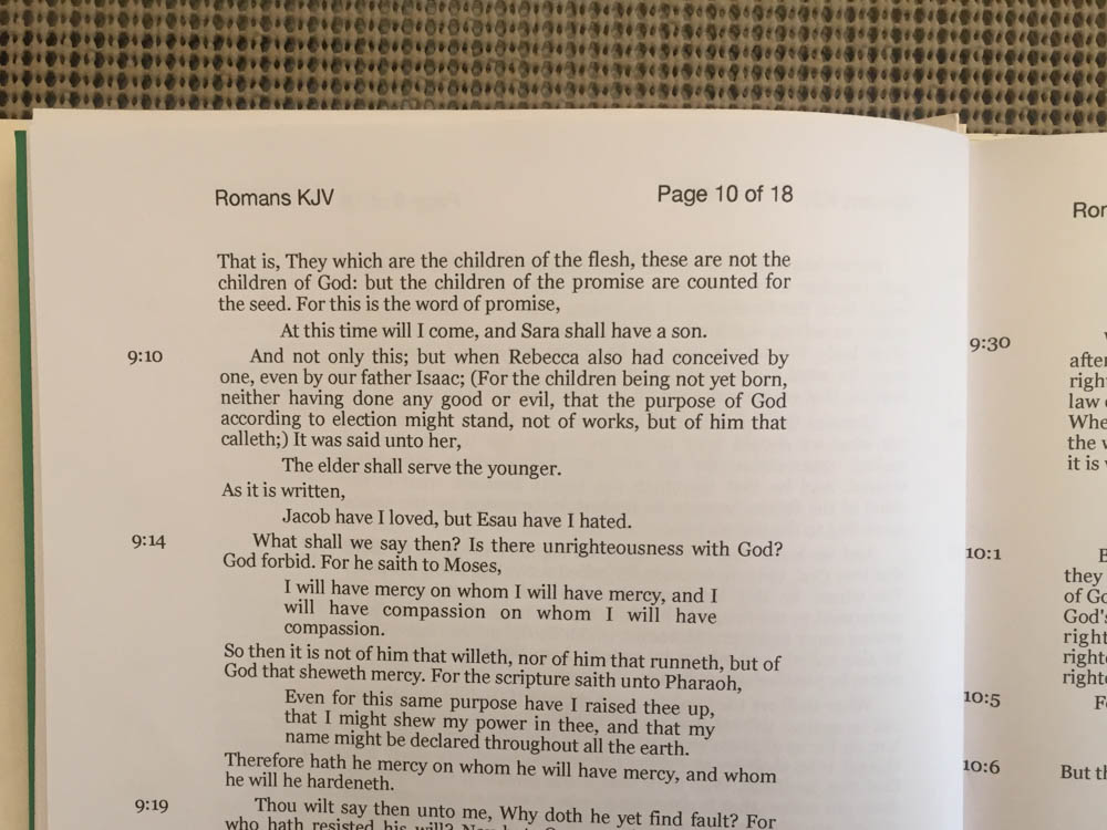 New! Improved! Romans Letter KJVLetter