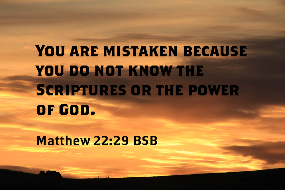 Know the Power of God
