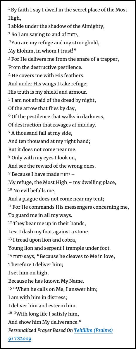 Image – Personalized Prayer of Psalms91